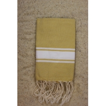Fouta plate cannelle rayures blanches