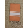 Fouta plate nectarine rayures blanches (1x2m)