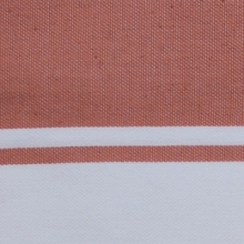 Fouta plate rose saumon rayures blanches (1x2m)