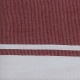 """Fouta plate rouge """"cassis"""" rayures blanches (1x2m)"""