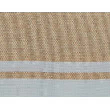 Fouta plate rose saumon clair rayures blanches (1x2m)