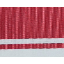 Fouta plate rouge rayures blanches