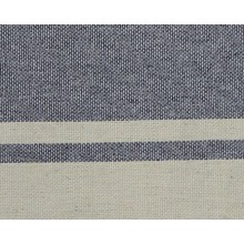 Fouta plate bicolore gris rayures lin (1x2m)
