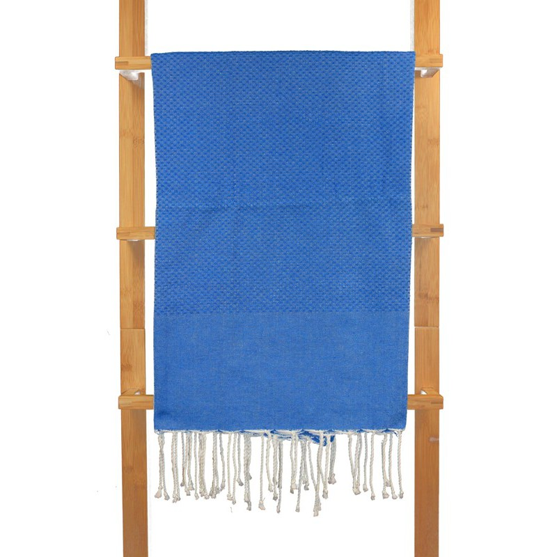 fouta nid d 39 abeille unie bleu breton. Black Bedroom Furniture Sets. Home Design Ideas