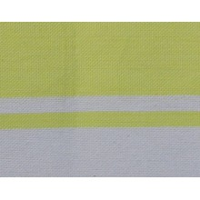 Fouta plate jaune fluo rayures blanches 1x2m