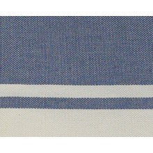 Fouta plate bleu Jeans rayures blanches