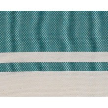 Fouta plate vert sapin rayures blanches 1x2m