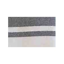 Fouta plate gris rayures blanches (1x2m)