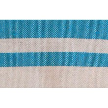 Fouta plate bleu piscine rayures blanches (1x2m)