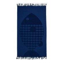 Serviette de bain Fish Bath Indigo